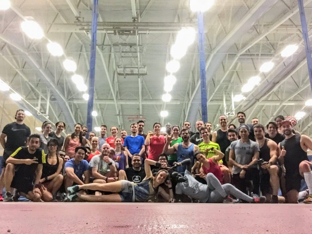 A Friday night at the Lululemon track workouts!