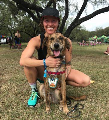 Ashley Shaffer with her dog Baloo