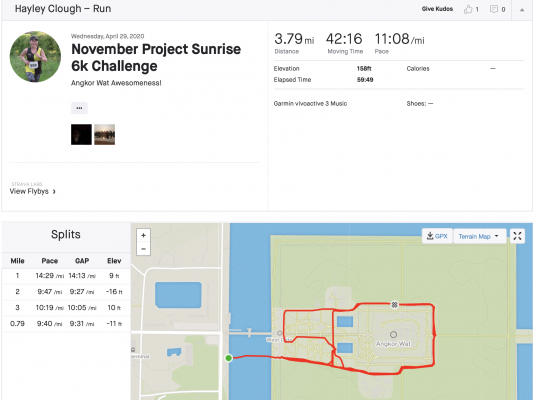 Strava Profile for Hayley Clough
