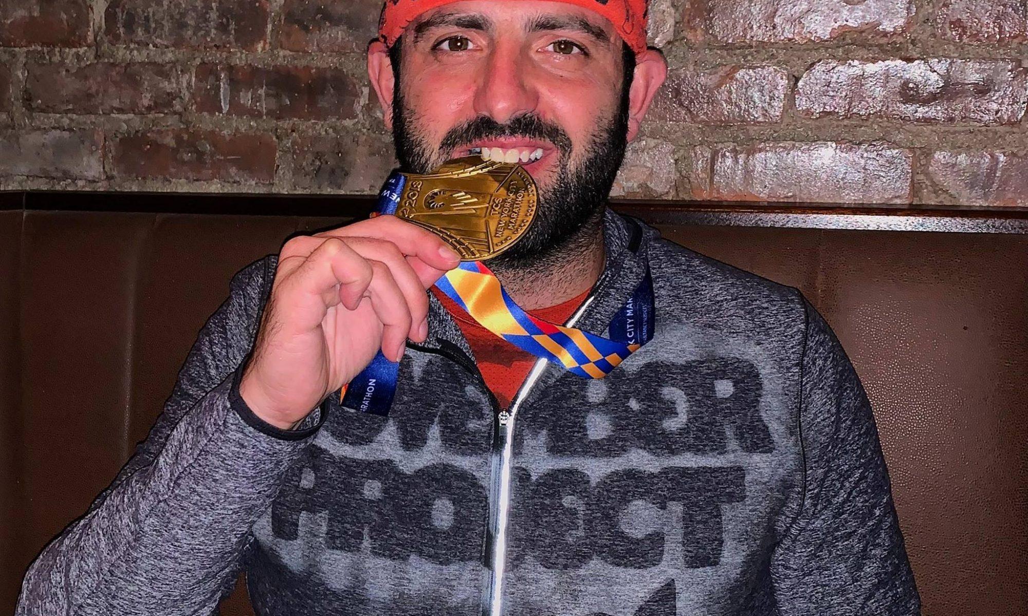 moris celebrates NYC Marathon