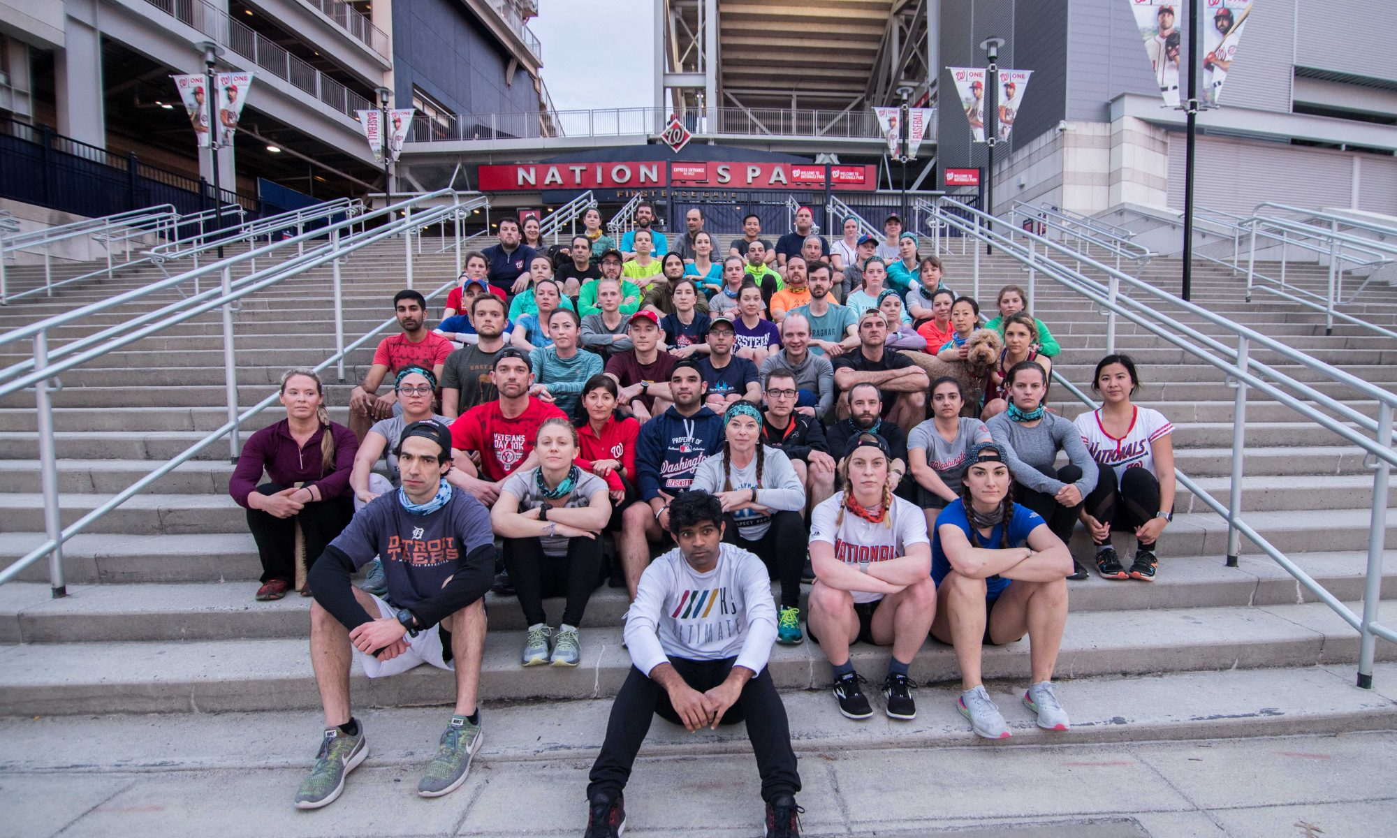 November Project DC gathers outside of Nationals Park