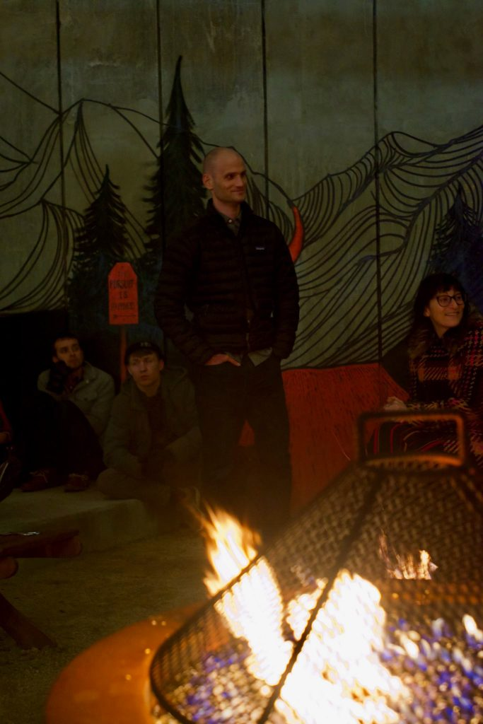 Jim tells his story at REI's Show & Tell in February.